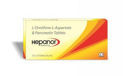 L-Ornithine-L-Aspartate 150 mg. + Pancreatin 100 mg
