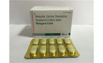 Nimesulide 100mg+Paracetamol 325mg+Cetrizine 5mg+Phenylephrine 10mg+Caffeine 25mg Tablet