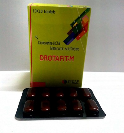 Drotaverine 80 mg , Mefenamic Acid 250 mg