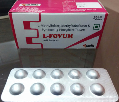 L-FOVUM TAB (L-methylfolate 1mg+methycobalamin 1500mcg+pyridoxal 5 phop 1.5mg)
