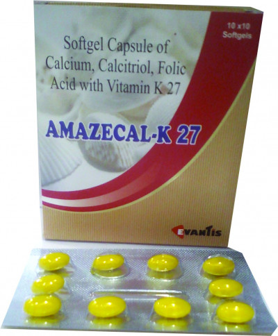 AMAZECAL-K27 Softgel cap (calcium & Calcitriol & folic acid & vit k27 softgel cap)