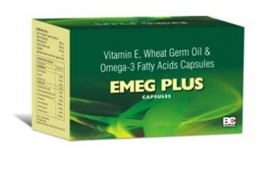 Vitamin E 400 I.U. + Wheat germ Oil 100 mg. + Omega-3 Fatty Acids 150 mg.