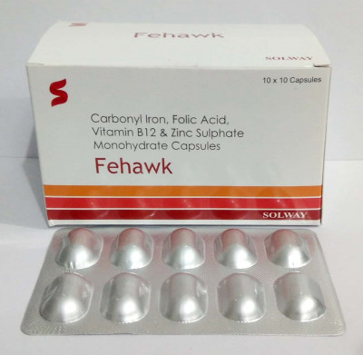Carbonyl Iron 100mg + Folic Acid 1.5mg + Cyanocobalamin 15mcg + Zinc 51.8mg