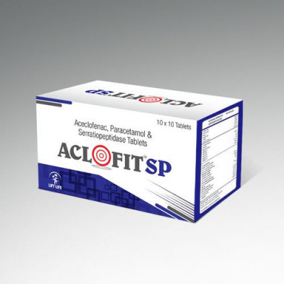 Aceclofenic 100 mg IP+paracetemol 325 mg and Serratiopeptidase 15mg