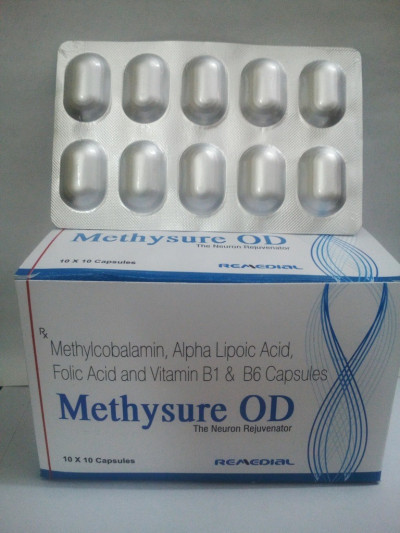 Methylcobalamin 1500mcg + Alpha Lipoic Acid 100mg + Vitamin B1 (Thiamine Mononitrate) 10mg + Vitamin B6 (Pyridoxine Hydrochloride) 3mg + Folic Acid 1.5mg