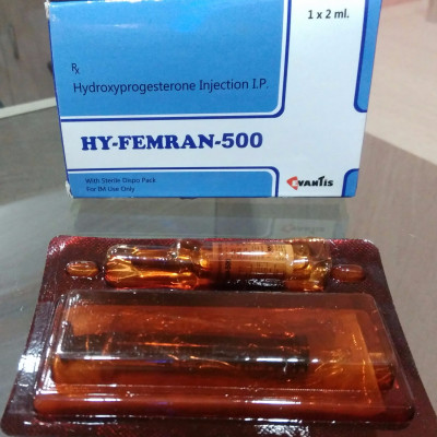 HY-FEMRAN 500 Inj (Hydroxyprogesterone 500mg injection)