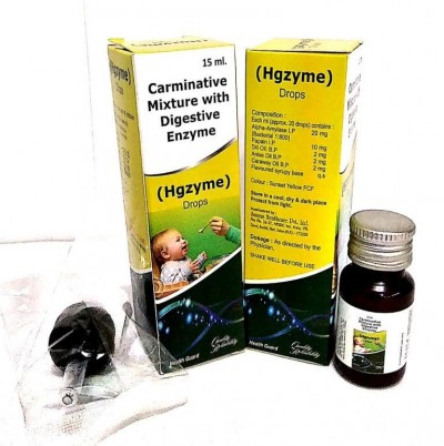 CARMINATIVE MIXTURE WITH DIGESTIVE ENZYME