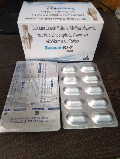CALCIUM CITRATE MALEATE, METHYLCOBALAMIN, FOLIC ACID, ZINC SULPHATE, VITAMIN D3 WITH VITAMIN K2-7 TABLETS