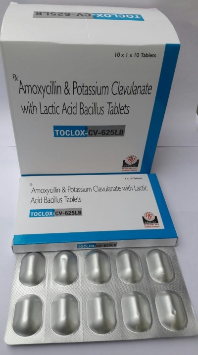 Amoxycillin , Potassium Clavulanate with Lactic Acid Bacillus Tablets