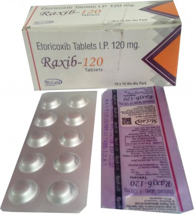 ETORICOXIB TABLETS IP 120MG.