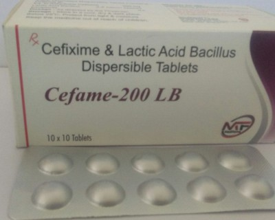 CEFIXIME & LACTIC ACID BACILLIIUS DISPERSIBLE TABLETS