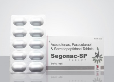 Aceclofenac 100mg  + Paracetamol 325mg  +  Serratiopeptidase 15mg Tablet