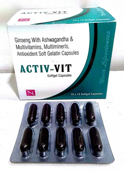 Ginseng with Ashwagandha & Multivitamins,  	Multiminerals, Anti oxidant  Soft Gel Capsule
