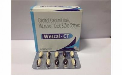 Calcitriol 0.25mcg + Calcium Citrate 425mg + Zinc Sulphate Monohydrate 20mg+Magnesium Oxide 40mg