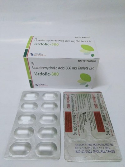 URSODEOXYCHOLIC ACID 300MG TABLETS I.P.