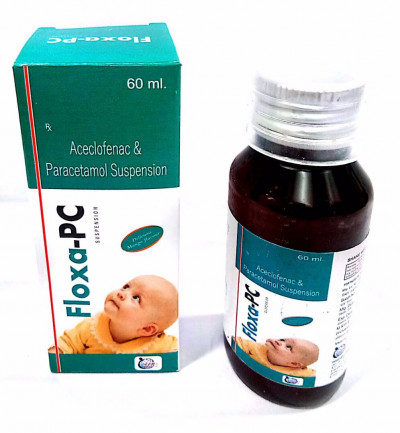 Aceclofenac 50mg+Paracetamol 125mg Syrup  (Monocartoon Packing)
