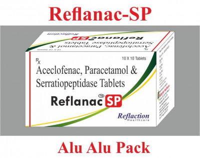 Aceclofenac 100mg + Paracetamol 325mg + Serratiopeptidase 15mg