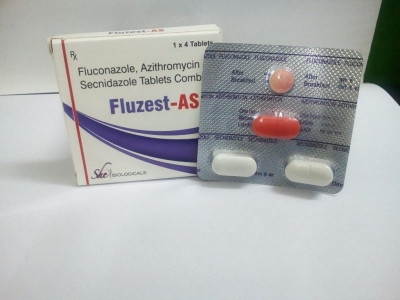 Combi-Kit : 1Tab of Azithromycin 1gm + 1 Tab of Fluconazole 150mg + 2 Tabs. Of Secnidazole 1gm