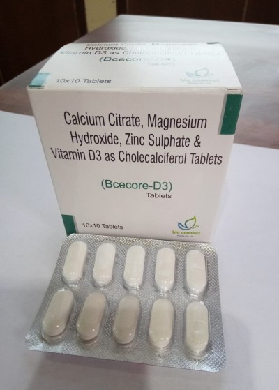 CALCIUM CITRATE, MAGNESIUM HYDROXIDE, ZINC SULPHATE, VITAMIN D3 AS CHOLECALCIFEROL TABLETS