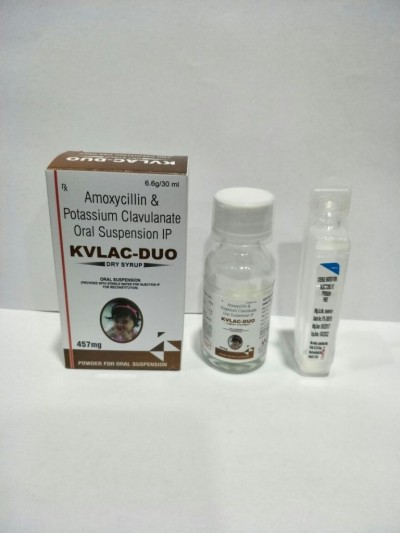 Amoxycillin  400 mg+Clav.57 mg With glass bottle