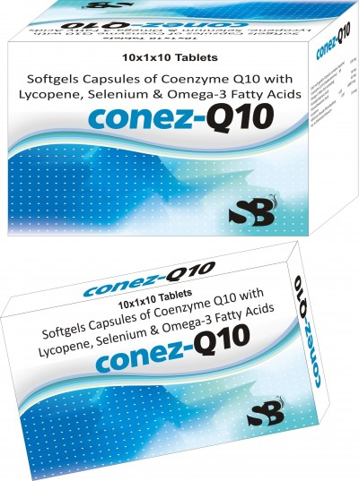 SOFTGELS CAPSULES OF CO-ENZYME Q10 WITH LYCOPENE, SELENIUM & OMEGA -3 FATTY ACIDS