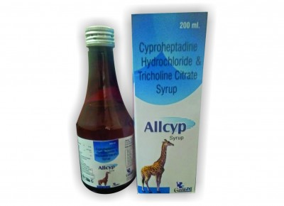 CYPROHEPTADINE HYDROCHLORIDE & TRICHLINE CITRATE SYRUP