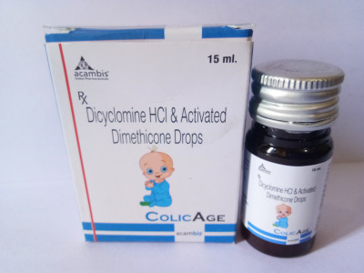DICUCLOMINE HCL & ACTIVATED DIMETHICONE DROPS