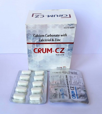 Calcium carbonate with calcitriol & Zinc tablet