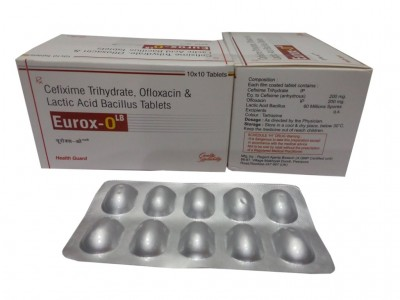 CEFIXIME TRYHYDRATE,OFLOXCIN & LACTIC ACID BACILLUS TABLETS