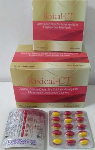 CALCIUM CITRATE, CALCITROL, ZINC SULFATE SOFT GEL CAP