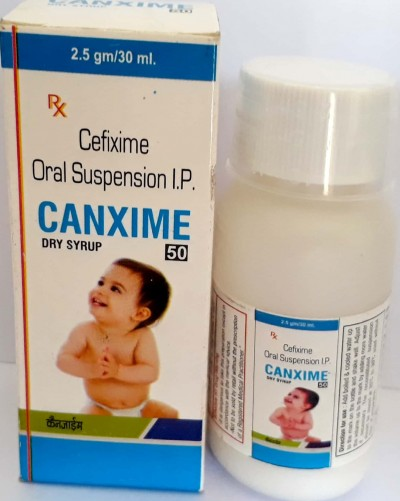 Cefixime 50 mg/ 5 ml dry syrup