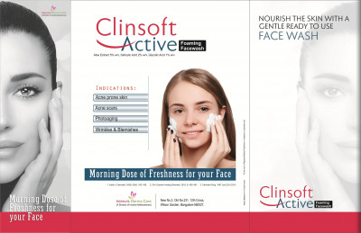 Clinsoft Active Foaming Face Wash