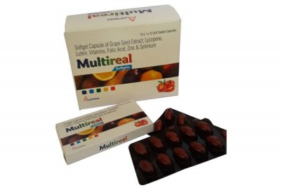 SOFTGEL CAPSULES OF GRAPE SEED EXTRACT, LYCOPENE,LUTEIN,VITAMIN,FOLIC ACID, ZINC & SELENIUM