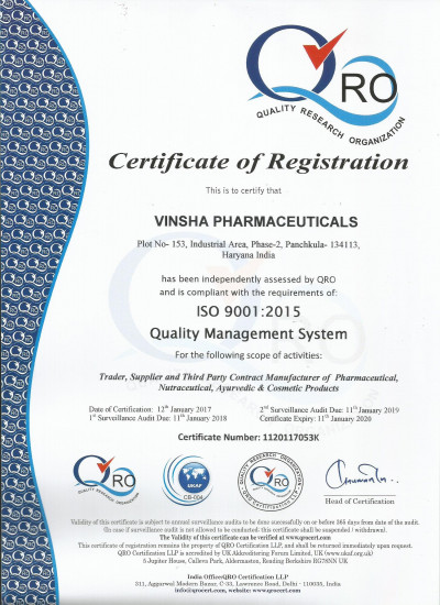 ISO 9001:2015 CERTIFIED CO.