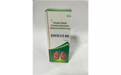 Terbutaline Sulphate 1.25mg+Bromhexine Hcl 4mg+Guaiphensin 50mg+Menthol 1.0mg Syrup with monocarton