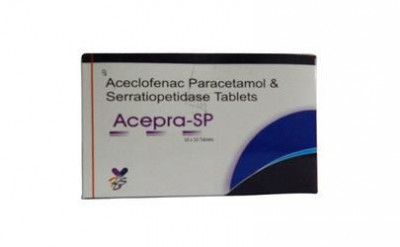 ACECLOFENAC 100 MG + PARACETAMOL 325 MG + SERRATIOPEPTIDASE 15 MG