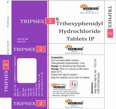 TRIHEXYPHENIDY HYDROCHLORIDE TABLETS IP