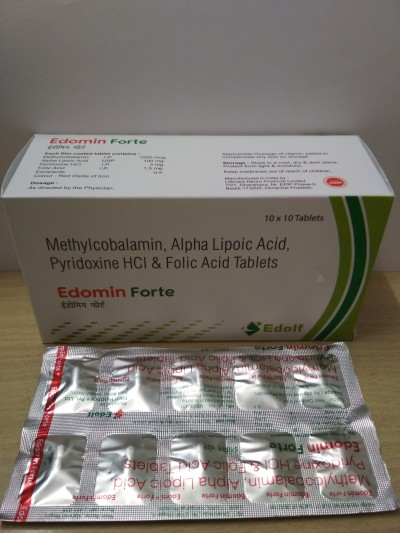 Methylcobalamin 1500mg + Alpha Lipoic Acid 100mg + Pyridoxine 3mg + Folic Acid 1.5mg