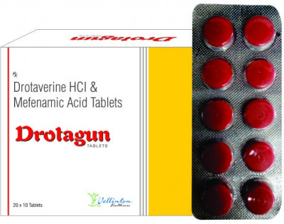 Drotaverine HCL 80mg+ MefenamicAcid 250mg