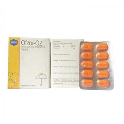 OFLOXACIN 200 MG+ ORNIDAZOLE 500 MG Tablets