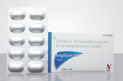 Diclofenac Potassium 50mg + Paracetamol 325mg + Serratiopeptidase 10mg Tablet