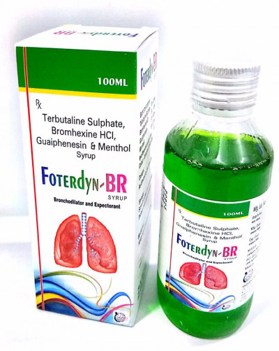 Terbutalinesulphate 1.25+Bromhexine  Hcl 4+Guaiphensin 50+Menthol 1(Monocartoon Pack)