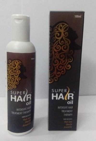SUPER HAIR OIL(INTENSIVE HAIR TREATMENT THERAPY ENRICHED WITH BLACK SEED , OLIVE OIL ALMOND OIL)