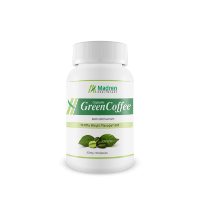 Madren Healthcare Green Coffee (CGA 50%) 500mg. 60 Capsules