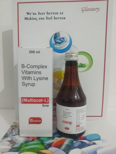 B complex vitamins with Lysine Syrup