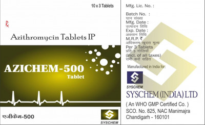 Azithromycin IP – 500 mg