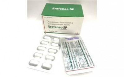 Aceclofenac 100 mg+Paracetamol 325 mg Serratiopeptidase 15mg