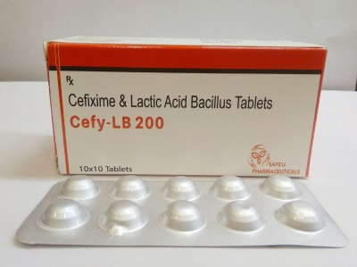 Cefixime 200 mg + Lactic Acid Bacillus 60 million spores