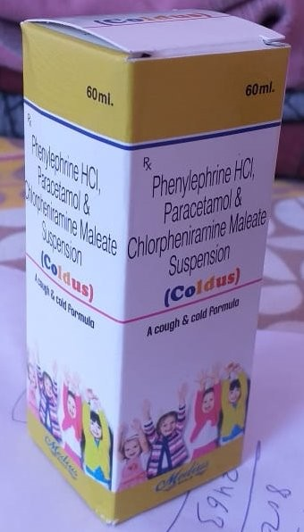 PHENYLEPHRINE HCL, PARACETAMOL & CHLOPHENIRAMINE MALEATE SUSPENSION.