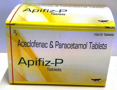 Aceclofenac  100 MG with Paracetamol 325 MG Tablets